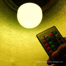 magic and colorful 3w rgb led bulb with remote