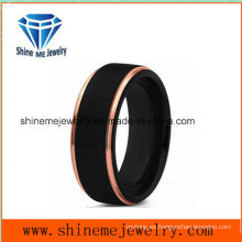Nuevo diseño de doble colores de los hombres populares 18k negro anillo de joyería de chapa