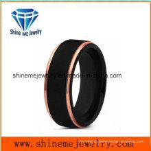 Новый дизайн двойной Цвет мужчины популярные 18к черный покрытие ювелирные изделия кольца