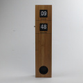 Péndulo largo de pared de madera Flip Clock