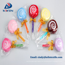 fábrica personalizar toalla de pastel de lollipop de microfibra