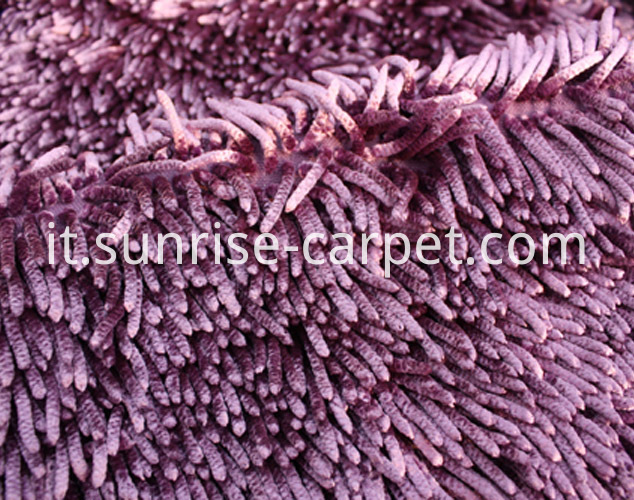 Chenille Rugs with Shining Polyester purple