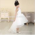2016 new fashion short front long back real sample flower girl dress for western wedding
