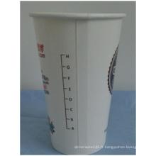 Tasses jetables adaptées aux besoins du client de papier de PE 16 onces doubles