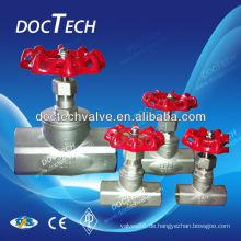 Mini-Thread Ende ANSI Carbon Stahl/Edelstahl Stahl Globus Ventil 200WOG vom China-Distributor