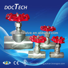 Mini Thread End ANSI Carbon Steel/Stainless Steel Globe Valve 200WOG From China Distributor