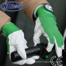 NMSAFETY grey pigskin leather glove