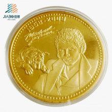 Forneça a moeda feita sob encomenda da lembrança do logotipo do presente relativo à promoção do ouro para Michael Jackson
