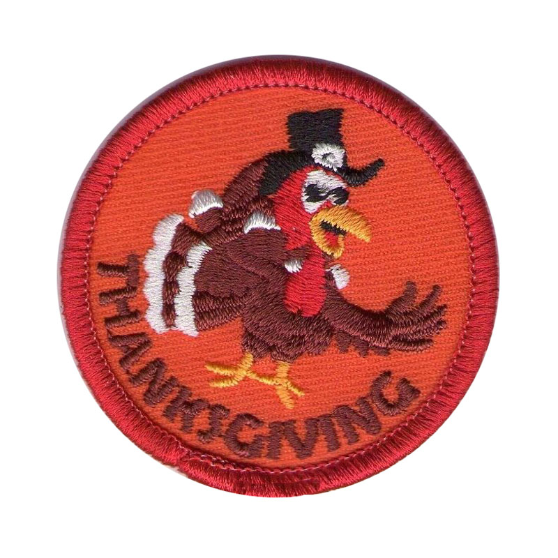 Thanksgiving Day Embroidered Patch