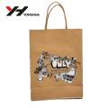 2018 en gros beau logo imprimé bowknot recyclé sacs en papier en gros