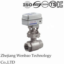 Electric Motorized Ss316 Female Threaded 2PC Ball Valve