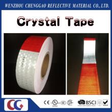 Heißer Verkauf DOT-C2 Honig Kamm Typ PVC Kristallgitter Sicherheit Rot und Weiß Lkw Reflexstreifen
