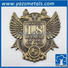 Personalize o rótulo antigo da palavra-chave de metal