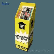 Chaudes poubelles de carton de vente avec l'en-tête démontable, boîtes d'affichage de papier de bruit