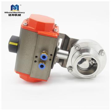 SS304 / 316L клапан-бабочка из нержавеющей стали с пневматическим приводом Пзготовителей