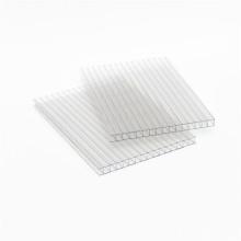 Panneau de mur jumeau de feuille creuse de polycarbonate de protection UV de matériau de construction