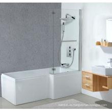 Bañera de ducha acrílica cuadrada con pantalla de baño