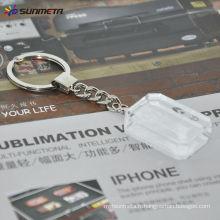 Porte-clés en cristal sublimation / verre cristal / cadeau / porte-clés