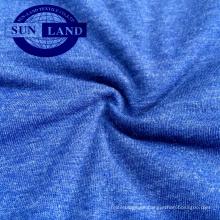Fábrica de China 32S CVC 60/40 jersey melange tejido de punto para pijamas