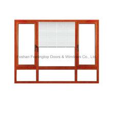 Aluminium Shutter Window with 5mm Double Glazing Glass (FT-W135)