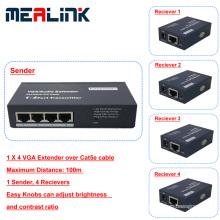 100m 1 to 4 VGA Extender