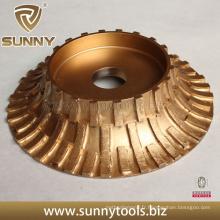 Rouleau de diamant galvanisé 250 mm pour profiler des pierres