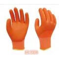 13G Polyester/Nylon Latex Wave Crinkle Full Coating Glove