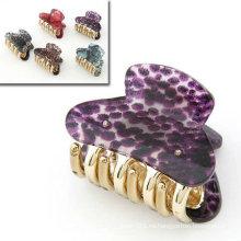 El nuevo patrón del diseño del patrón de la serpiente agarra las abrazaderas de pelo de la resina con los colores mezclados HC01