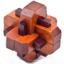 Alrededor del rompecabezas de madera afilado del diamante, estilo de lujo