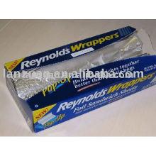 Feuille d'aluminium pop-up
