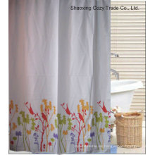 Simple diseño de la flor de cortina de ducha de poliéster