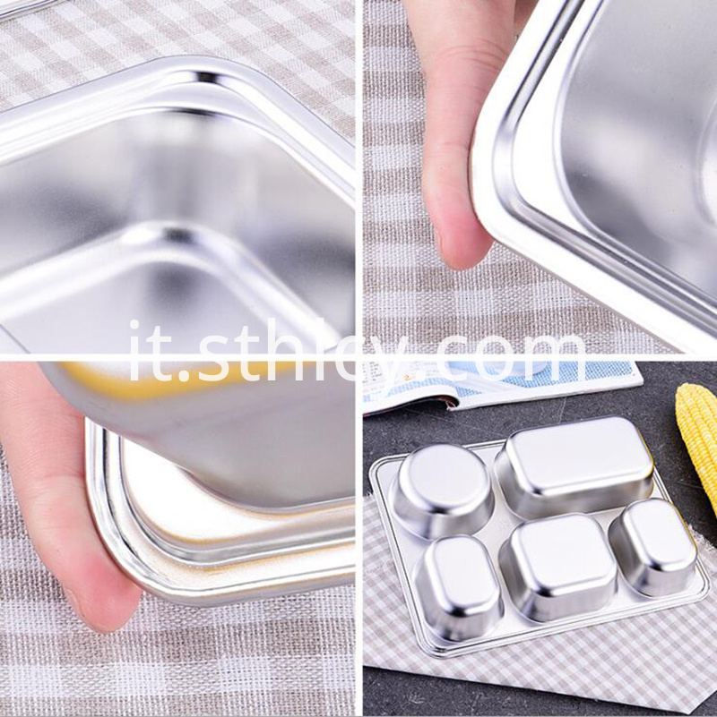 Stainless Steel Food Dish With Lid