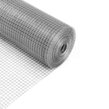 Anti-corrosion 1/2'' square hole galvanized welded mesh roll for farm fence