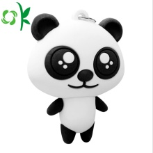 Customizd 3D Panda Silicone Мягкий брелок для ключей из ПВХ
