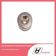 Aimant de NdFeB fort N52 cylindre avec trou avec une puissance élevée