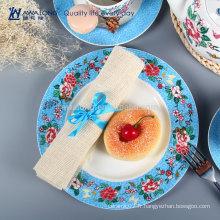 Plats et plats divisés en fleurs Fabricant de vaisselle Bone China