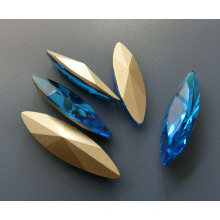 Piedra de fantasía perla de cristal suelta para accesorios de diamante