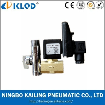 Vanne électromagnétique automatique de drain d'eau de prix bas de Klpt avec la minuterie 24V