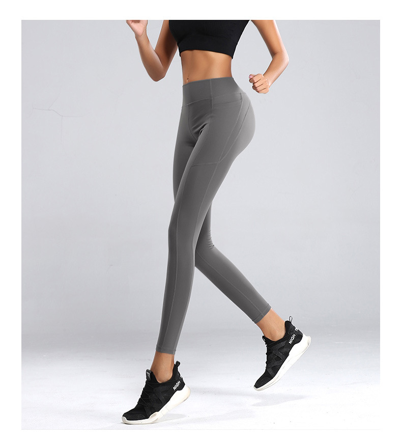 high waist tummy control pants yoga leggings gym tight (4)