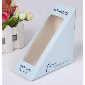 Gâteau en papier / sandwich boîte d'emballage avec fenêtre