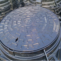 Ductile iron recessed/solid manhole cover