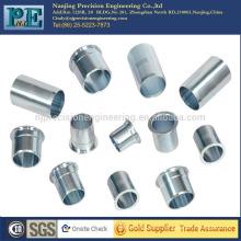 Mangas de acero inoxidable cnc de alta precisión personalizadas