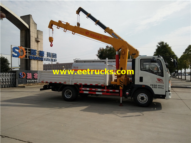 HOWO Truck Mounted Articulating Cranes