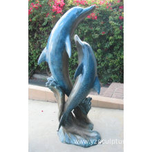 Life Size Bronze Dolphin Statue For Sale