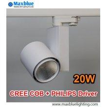 20W CREE COB LED luz de pista con controlador Philips