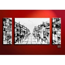 Wholesale Handmade Canvas Painting Abstract Oil Painting (XD3-003)
