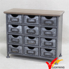 Mini Metal Cabinet Antique Decoration Vintage Industrial Furniture
