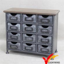 Мебель для мини-шкафа Античная отделка Винтажная промышленная мебель