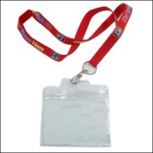 Einziehbare Namensschild / ID Card Badge Reel Inhaber benutzerdefinierte Lanyard mit ID Halter (NLC015)