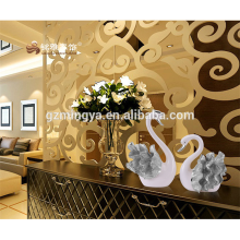 New design beautiful swan resin show home decoration pieces for wholesale